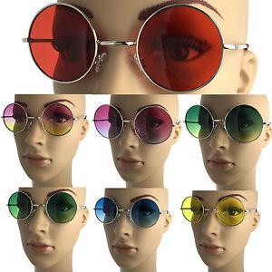 John Lennon Style Round Large Sunglasses Colored Vintage Classic Retro Circle