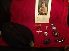 More details for vintage 60s 70s girl guide job lot includes belt, patches, woggle, badges hat
