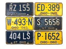 1960s Old License Plates Lot Vtg Wall Decor Car Garage Retro Auto Blue Yellow
