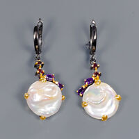 Baroque Pearl Earrings Silver 925 Sterling Special Sale Discount!  /E41703