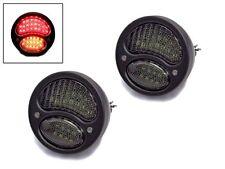 Black Vintage Integrated LED Stop Tail Lights & Indicators for Custom Hot Rod