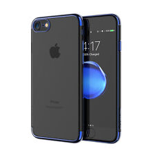 Case for iPhone 7 7 Plus Luxury Plating Ultra Thin Soft TPU Clear Protector Case