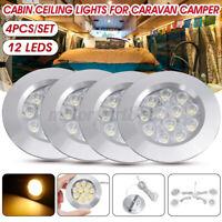 4X 12V LED Down Light Cabin Ceiling Lamp Warm White For Caravan Camper Trailer