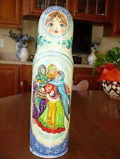 15 inch Tall Handmade Blue Russian Doll