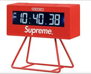 New Supreme®/Seiko Marathon Clock Red SS21 ORDER CONFIRMED