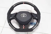 Carbon Steering Wheel With Alcantara Lether Trd Style Toyota C-HR 2015-18