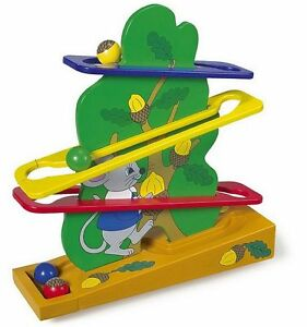 Kw 7640 Wooden Toy Mouse Ball Track New
