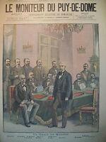 ELYSéE CONSEIL DES MINISTRES COURSE DE TONNEAUX DE PARIS-VERSAILLES 1898