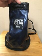 Vintage 1997 Polo Sport RL97 Mini Synch Bag Backpack Navy Black Rare