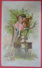 ANTIQUE VICTORIAN TRADE CARD ADVERTISING SINGER SEWING MACHINES-ADAM & EVE