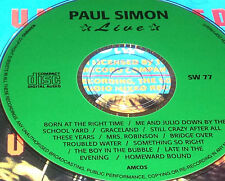 Paul Simon Live CD Me And Julio Down By The School Yard Graceland Late Evening