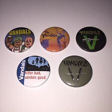 5 The Vandals button badges Live Fast Diarrhea Hitler Bad Good Oi to the World