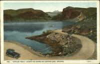 Apache Trail Canyon Lake AZ Old Cars c1920 Postcard