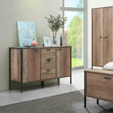 Stretton Sideboard 2 Doors 3 Drawers Storage Cabinet Cupboard Rustic Industrial