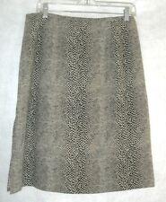 Emma James Black & Brown Reptile Print Lined Skirt Size 12 NWOT