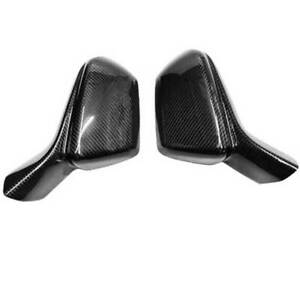 For Chevrolet Camaro 2016-2021 Dry Carbon Fiber Rear View Side Door Mirror Cover