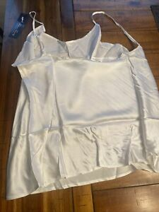 Fisher's Finery Women's 100% Pure Mulberry Silk Camisole W/ Adjustable Straps