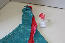 TURQUOISE MAGANTA SPARKLY GOWN SHOES EARRINS MODEL MUSE Barbie Size MATTEL