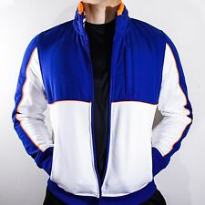 NWT Tommy Hilfiger Sport Blue & White Full Zip Jacket Hoodie Spelled Out Size M
