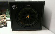 "Kicker Speaker Car Audio Loaded Subwoofer Comp 12"" Box 10VC124 NEW"