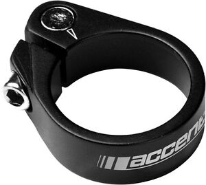 ACCENT LIGHT 31.8mm - 34.9mm Black or White Seatpost Clamp Fixed Gear Road Bike