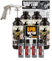 U-POL Raptor Tintable Mesa Gray Bed Liner Kit w/ Spray Gun, 4L Upol