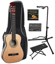 GUITARE 1/2 CLASSIQUE ACOUSTIQUE SET HOUSSE ACCORDEUR LED ETUI SUPORT DE GUITARE
