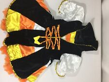 Authentic Kids Girls Halloween Costume Candy Corn Dress Sizs 3T Cuff Bin78#29