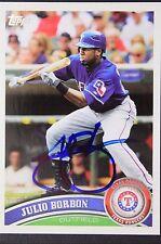 Texas Rangers Julio Borbon Signed 2011 Topps Autograph Card #8 TOUGH 106