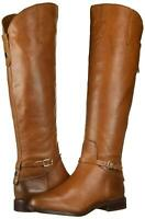 Franco Sarto Women's Haylie Leather Closed Toe Knee, Cognac Leather, Size 8.0 0T