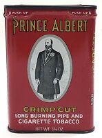 Vintage Prince Albert Crimp Cut Pipe & Cigarette Tobacco Tin 1.5oz Empty