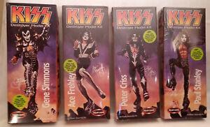 KISS Destroyer Model Kit Gene Simmons,Ace Frehley,Peter Criss,Paul Stanley, Set