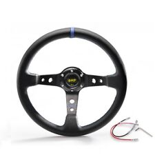 OMP 350mm Deep Dish Racing Steering Wheel Drifting Race JDM BLUE RED YELLOW