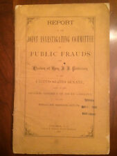 RARE 1878 South Carolina Reconstruction Era Investigation Public Frauds 1st ed.