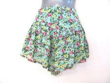 MOOLOOLA Mint Green Floral Flared Shorts Skirt Beach Cute Fun 10