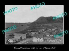 OLD POSTCARD SIZE PHOTO OF GENOA WISCONSIN PANORAMA OF THE TOWNSHIP c1910