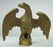 Old Eagle Finial Topper spread winged brass gold gilt ornate coffee grinder flag