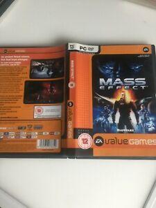 Mass Effect PC CD-ROM Game Mint Discs Windows XP Vista Commander Battle War