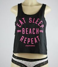 NWT VICTORIA'S SECRET PINK  GRAPHIC CROP TANK TOP  XS  F155+