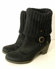 EL NATURALISTA Boots Boot Stiefelette Stulpen Strick Schwarz Gr. 40