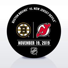 New Jersey Devils Game Used NHL Warm Up Puck 11/19/2019 Vs. Boston Bruins!