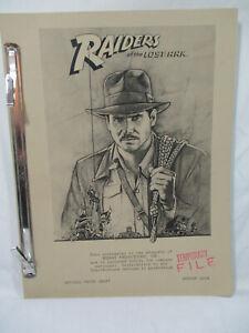 Vtg Raiders Of The Lost Ark 1979 Movie Scrip George Lucas 3rd Draft Book