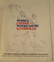 Vintage NCAA 1978 Midwest Regional Basketball Tournament Program