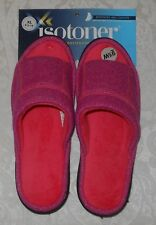 Isotoner Womens Cushioned Heels Slides Slippers Shoes XL 9.5 10 Tickled Pink NWT