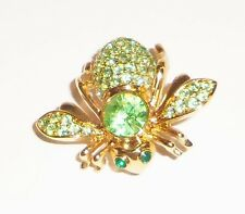 Retired Joan Rivers Classics Collection Green Peridot August Birthstone Bee Pin