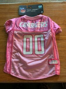 NFL LA Chargers Dog Jersey Pink M Medium. - Football Pet Dog Cat Jersey in Pink