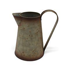 7 Inch Galvanized Metal Milk Pitcher Retro Watering Can Jug Vase Garden Décor