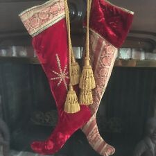 Christmas pair of DRAMATIC & BEAUTIFUL stockings