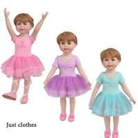 Clothes for 18 inch American Toy Doll Tutu Ballet slippers