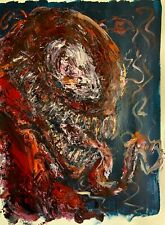 Original Abstract Carnage Comic Book Portrait Large Painting Wall Art 18x24""